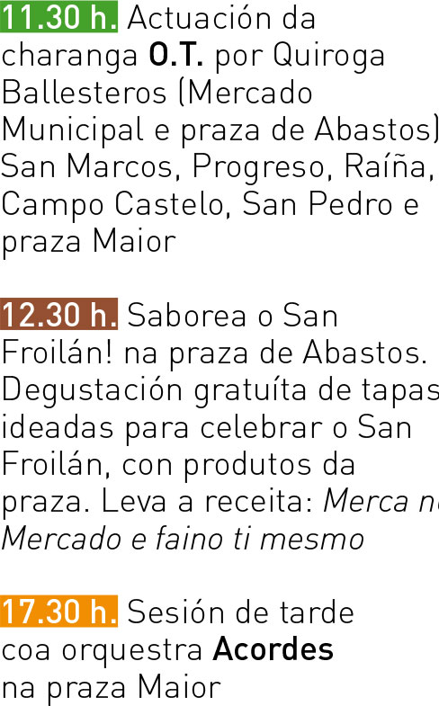 Programa San Froilán 2017 - Luns 09
