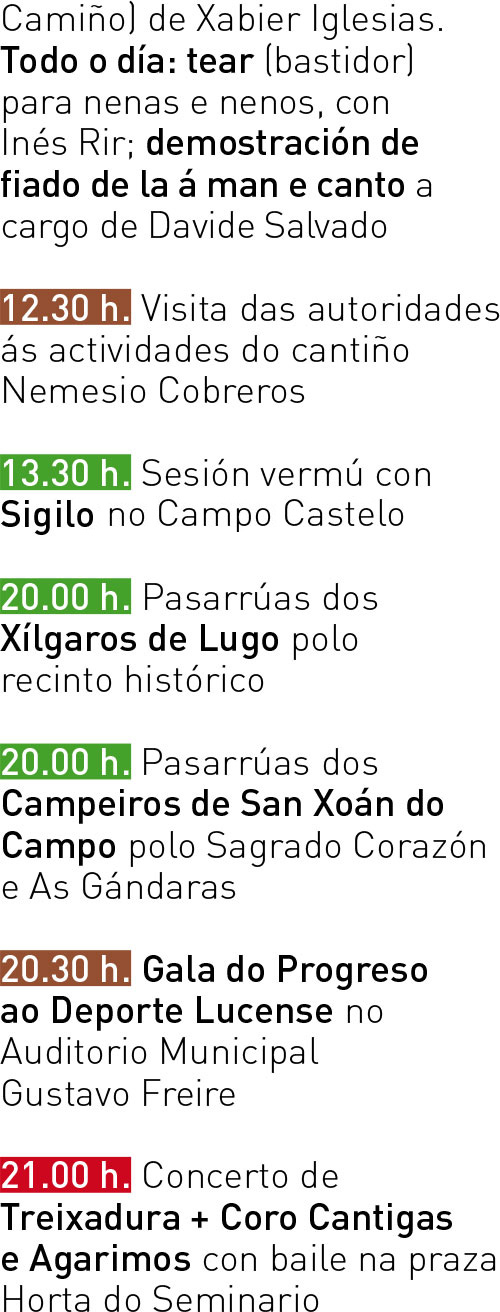 Programa San Froilán 2017 - Mércores 11