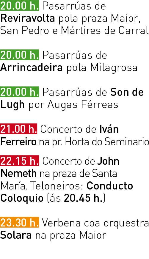 Programa San Froilán 2017 - Sábado 07