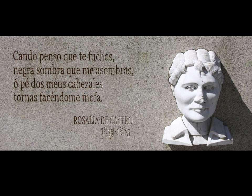 Noemí Mazoy, oferente a Rosalía de Castro o Domingo das Mozas