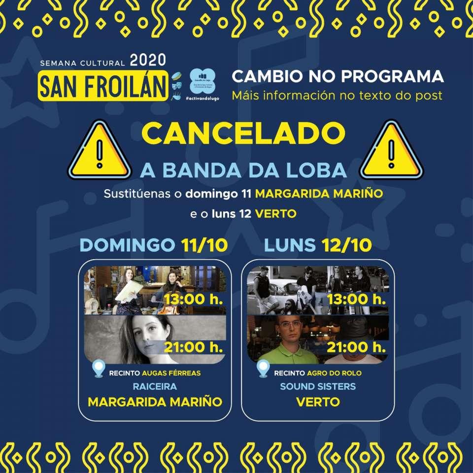 Cancelación dos concertos de A Banda da Loba